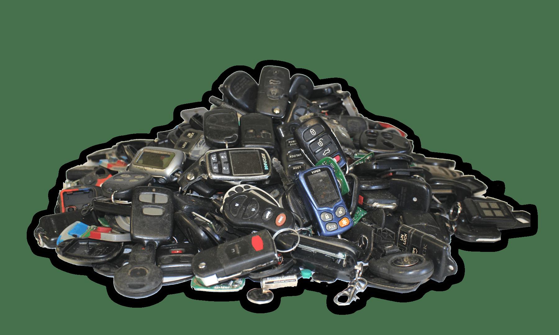 Used Key Pile